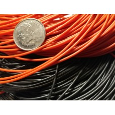 Thin Silicone Wire - 24 AWG Red or Black