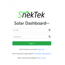 Cloud Monitoring Service for SnekTek Solar Dashboard - 2 Year Early Bird Subscription